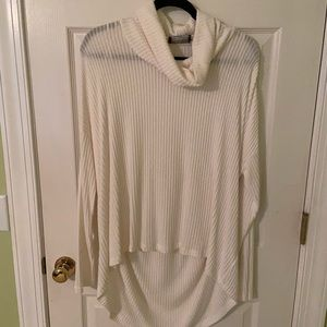 Anthropologie Cowl Neck Tunic, Ivory, Size M/L